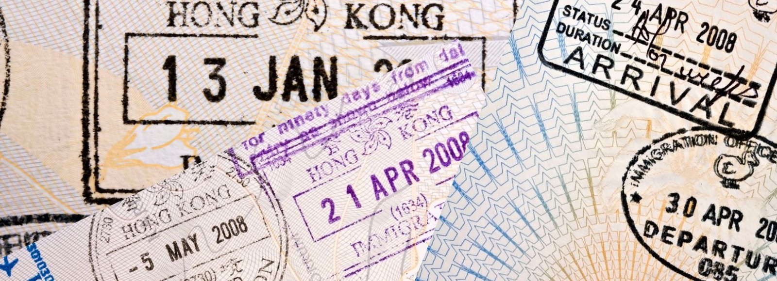 green card usa immigration stamps honk kong